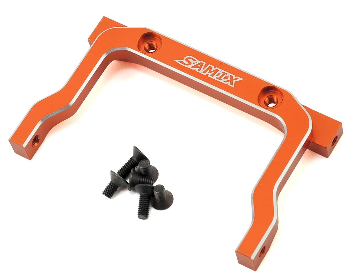 Samix SCX10 Aluminum Front Cross Brace Mount (Orange)
