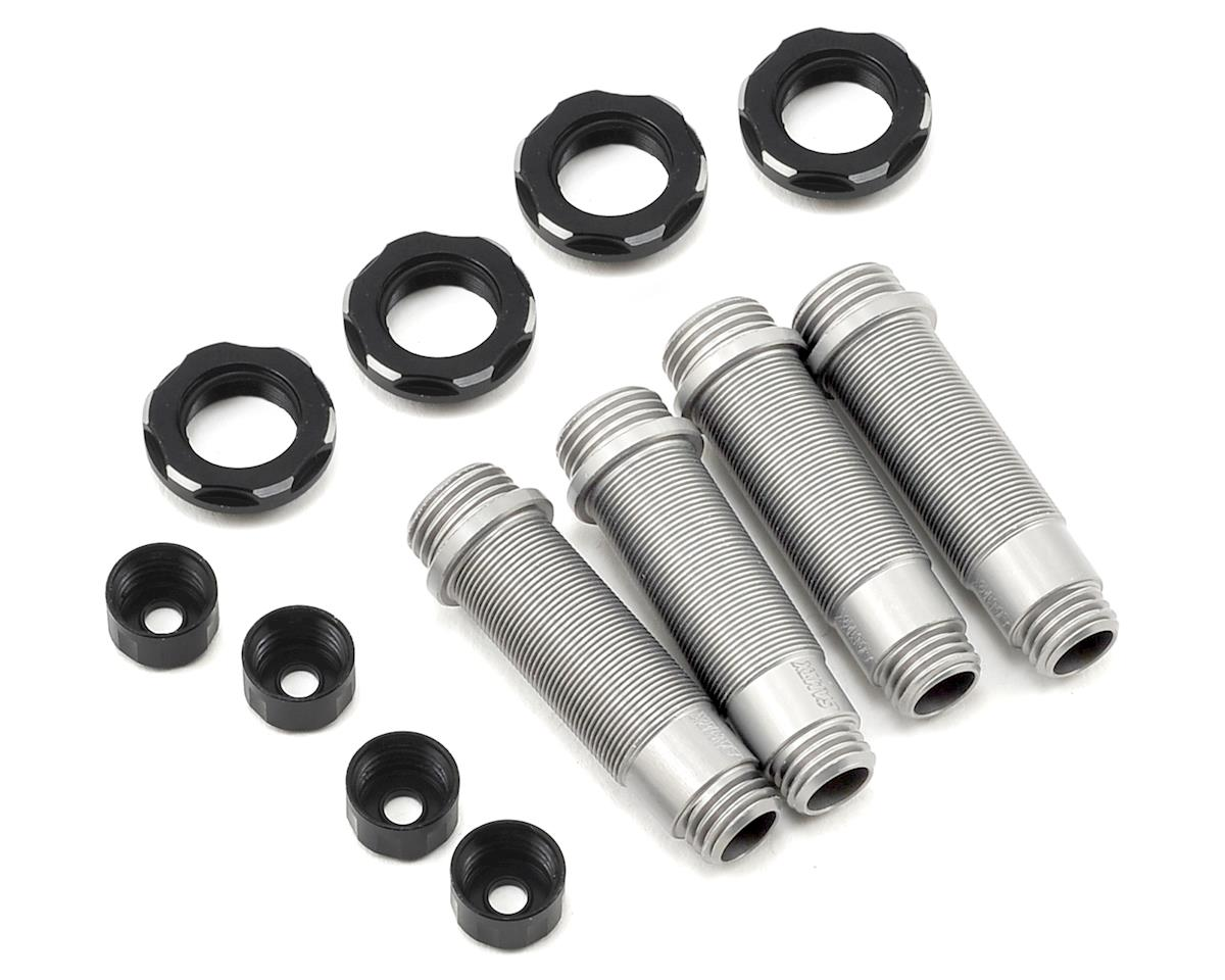 SCX10 Aluminum Shock Body Set (Silver) (4) by Samix