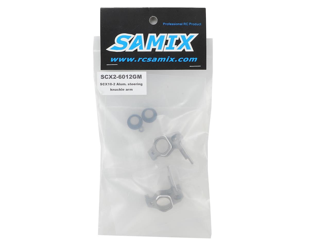 Samix SCX10 II High Clearance Steering Knuckle Arm (2) (Grey)