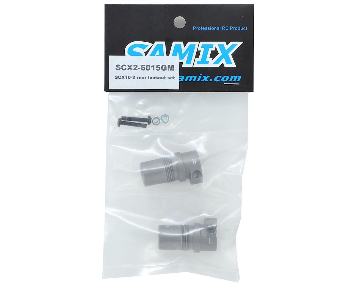Samix SCX10 II Aluminum Rear Lockout (Grey) (2)