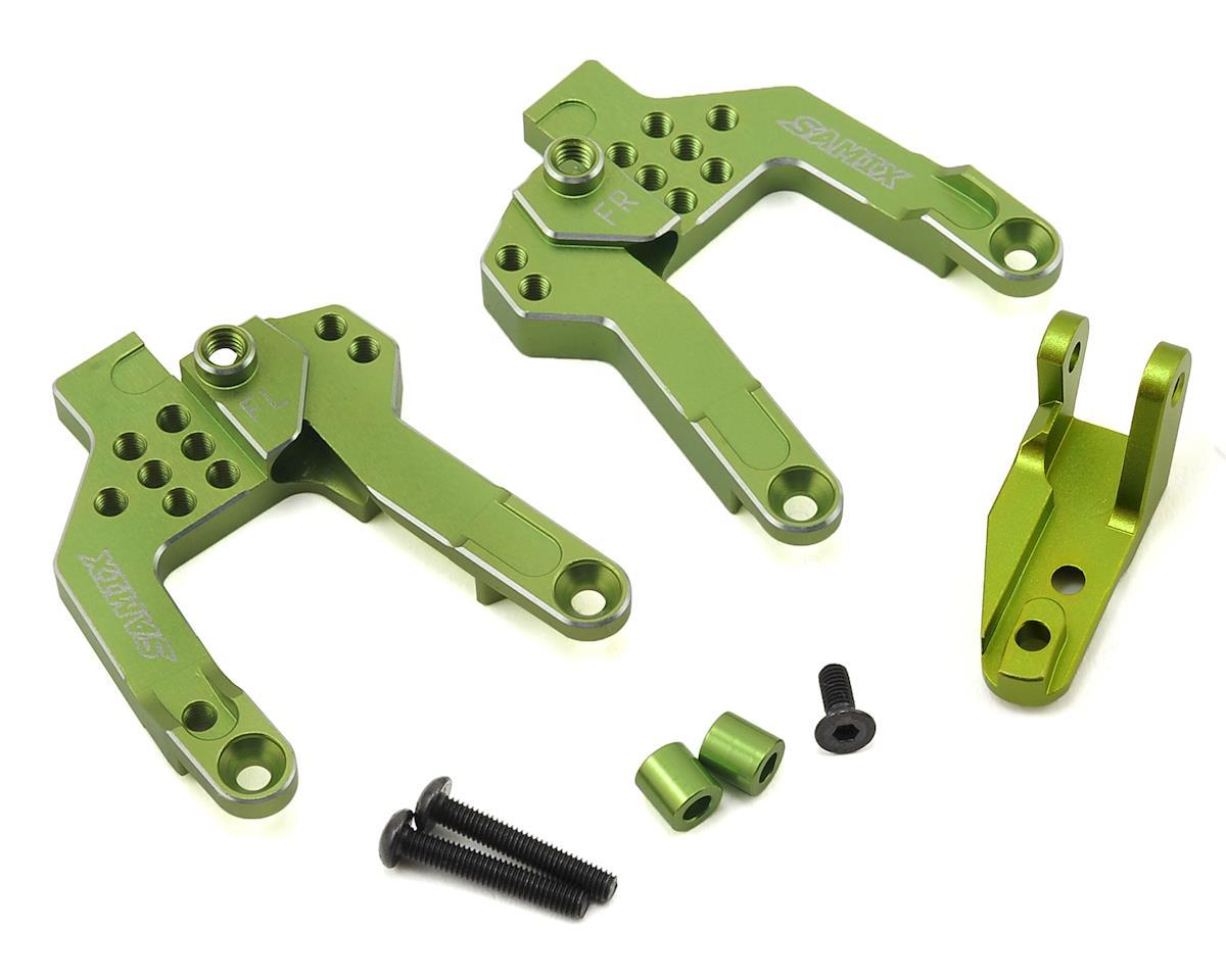 Samix SCX10 II V2 Front Shock Plate (2) (Green)