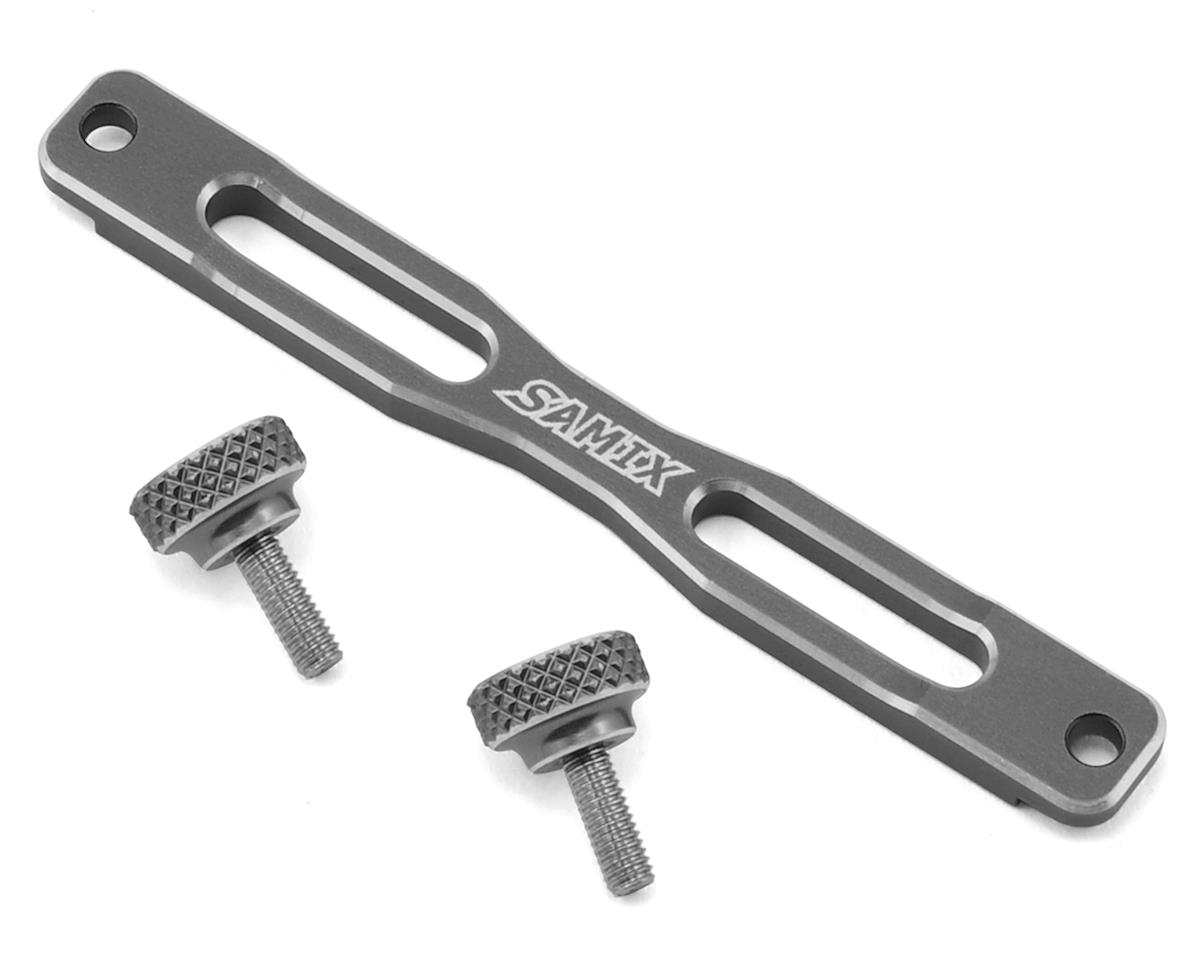 Samix SCX10 II Shock Plate Stiffener (Grey) (2)