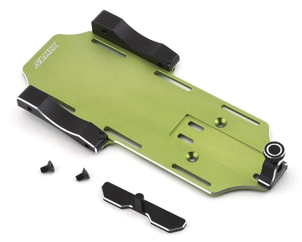 Samix SCX10 II Samix Forward Adjustable Battery Tray Kit (Green)