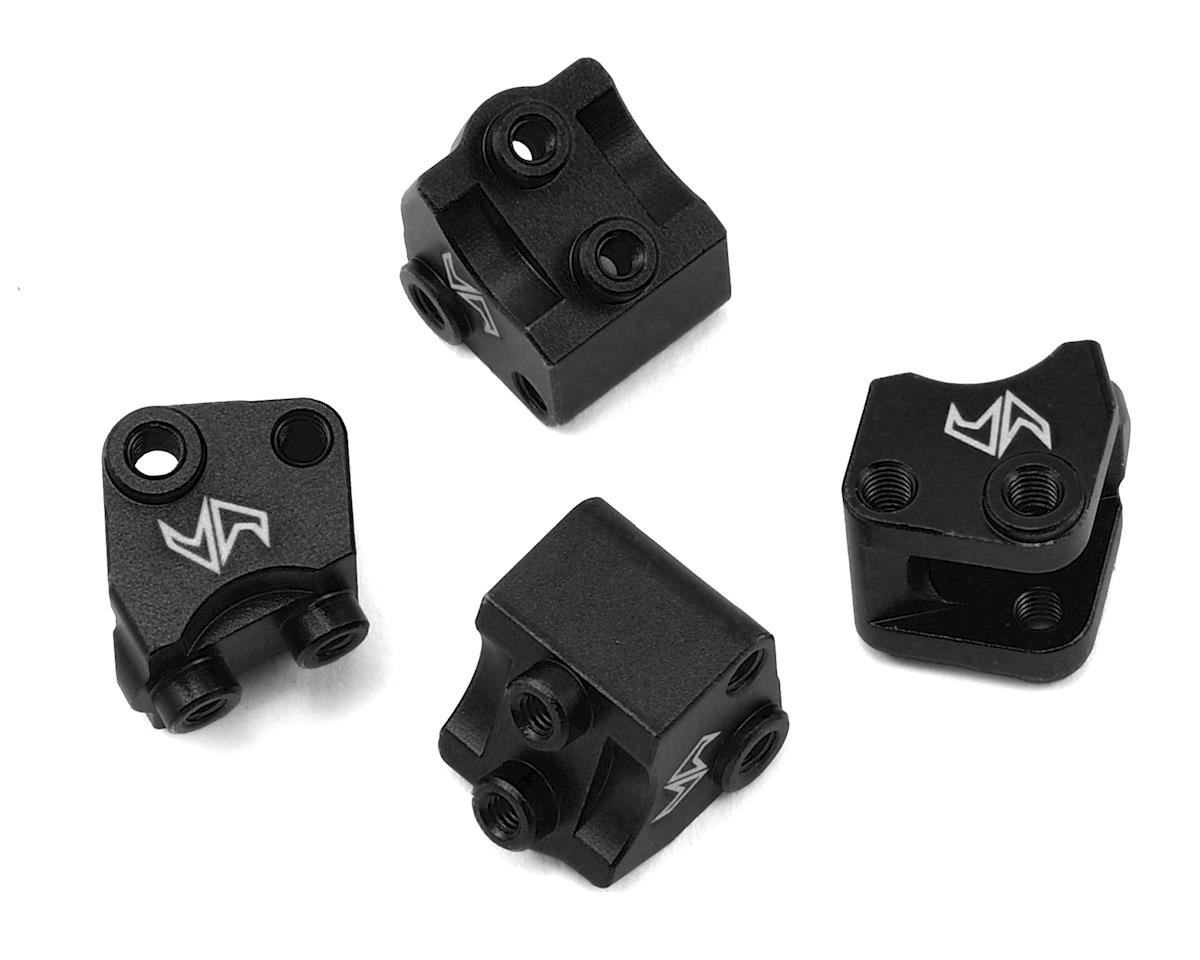 Samix SCX10 II Aluminum Lower Shock/Suspension Link Mount (Black) (4)
