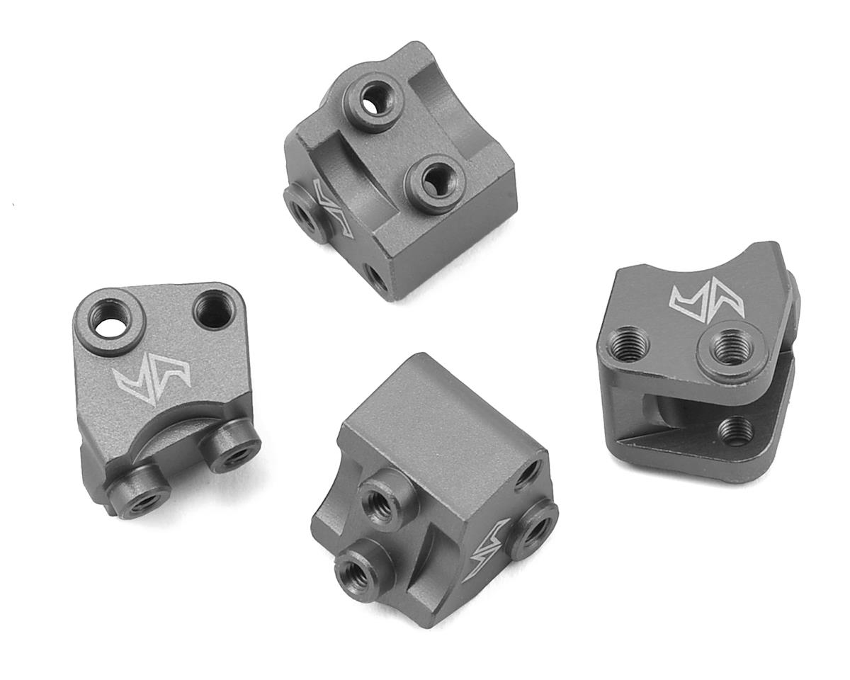 Samix SCX10 II Aluminum Lower Shock/ Suspension Link Mount (Grey) (4)