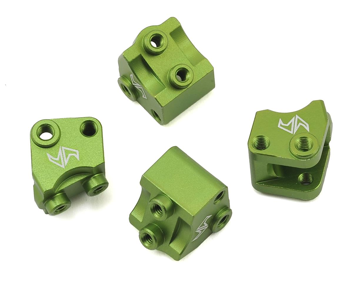 Samix SCX10 II Aluminum Lower Shock/ Suspension Link Mount (Green) (4)