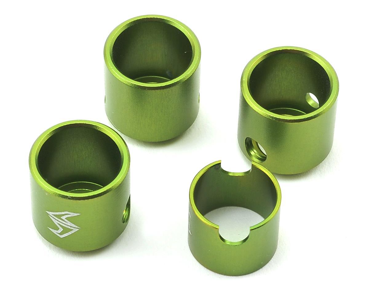 Samix SCX10 II Aluminum Drivershaft Cups (Green) (4) (RTR Transmission)