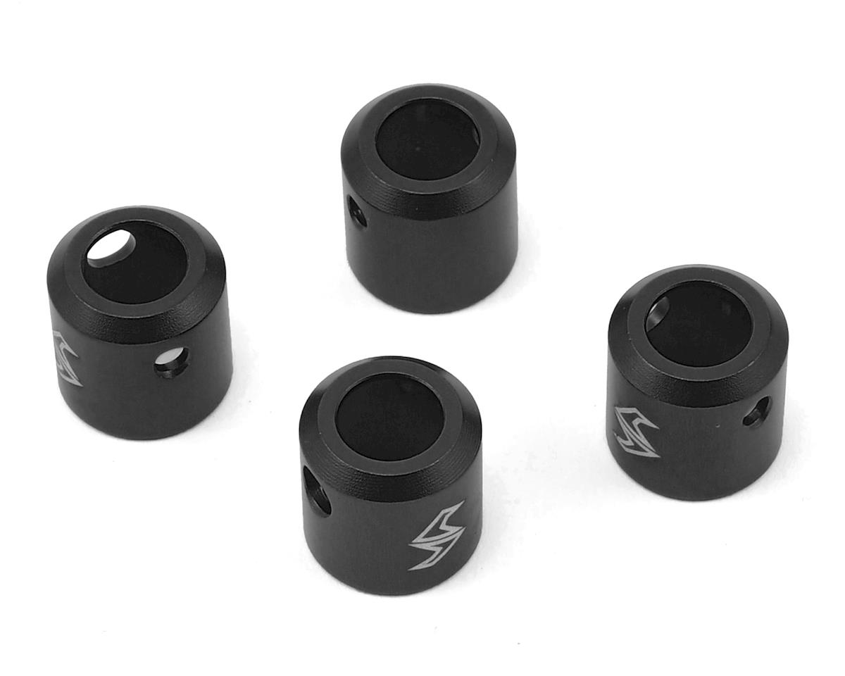 Samix SCX10 II Aluminum Driveshaft Cup (Black) (4) (Kit Transmission)