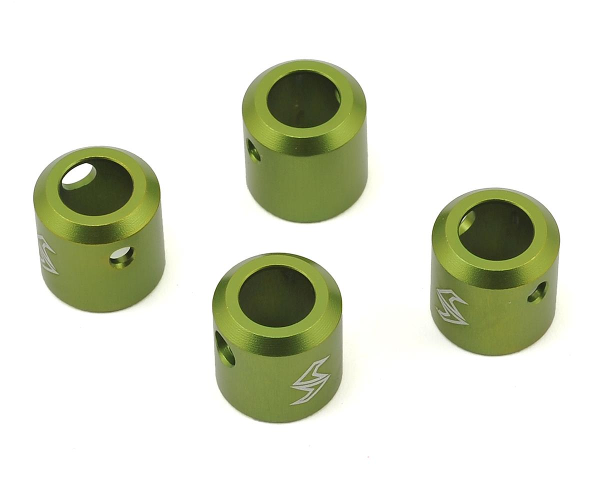 Samix SCX10 II Aluminum Driveshaft Cup (Green) (4) (Kit Transmission)