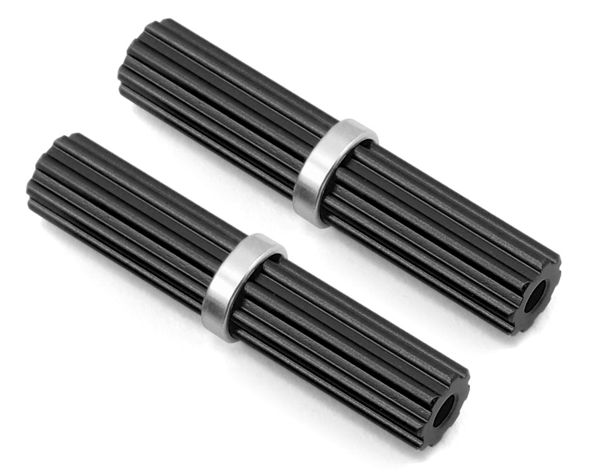 Samix SCX10 II Aluminum Inner Drivershaft (Black) (2) (RTR Transmission)