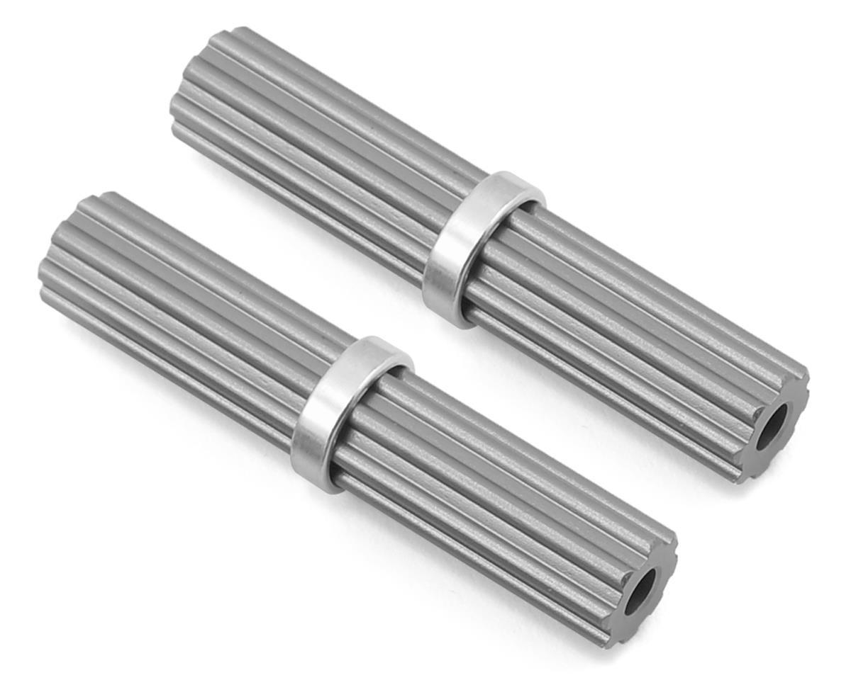 SCX10 II Aluminum Inner Drivershaft (Grey) (2) (RTR Transmission) by Samix