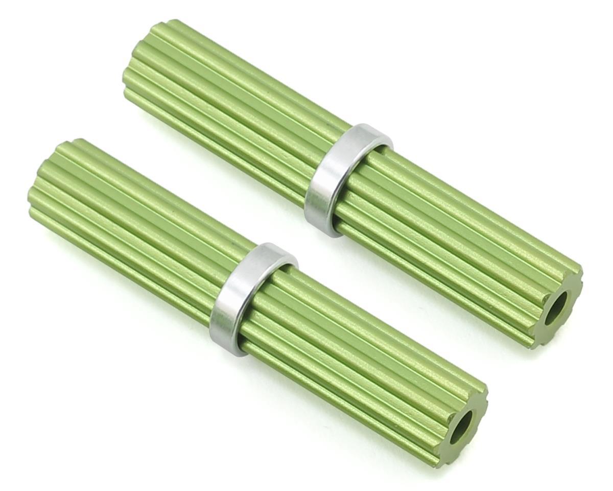 Samix SCX10 II Aluminum Inner Drivershaft (Green) (2) (RTR Transmission)
