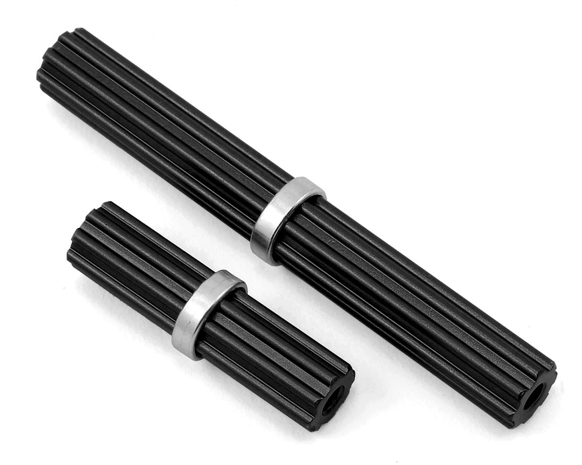 SCX10 II Aluminum Inner Driveshaft (Black) (2) (Kit Transmission) by Samix