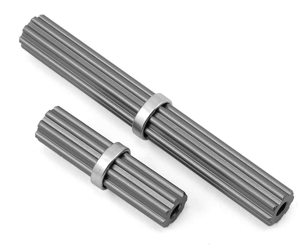 Samix SCX10 II Aluminum Inner Driveshaft (Grey) (2) (Kit Transmission)