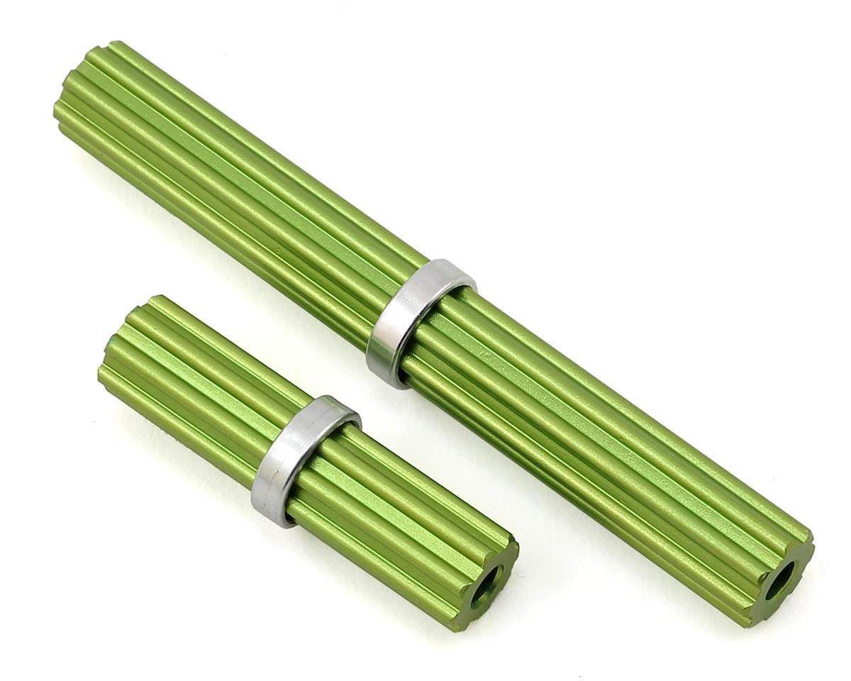 Samix SCX10 II Aluminum Inner Driveshaft (Green) (2) (Kit Transmission)