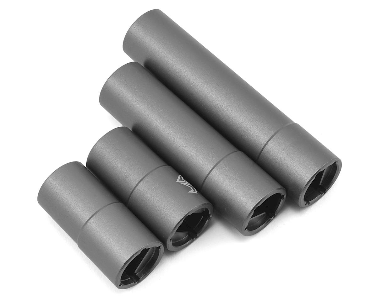 SCX10 II Aluminum Outer Driveshaft (Grey) (2) (Kit Transmission) by Samix