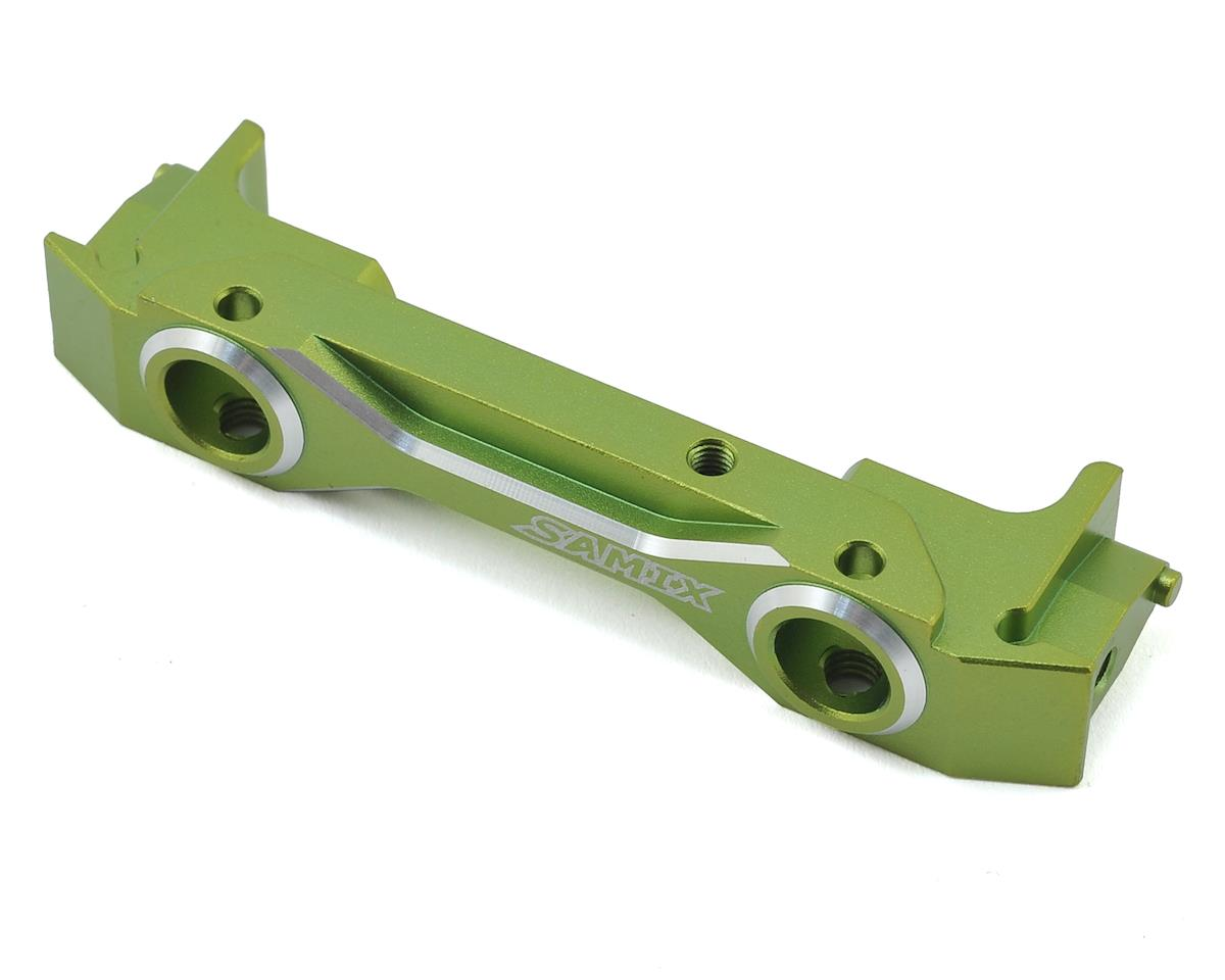 SCX10 II Aluminum Low Profile Front Bumper Mount (Green) by Samix