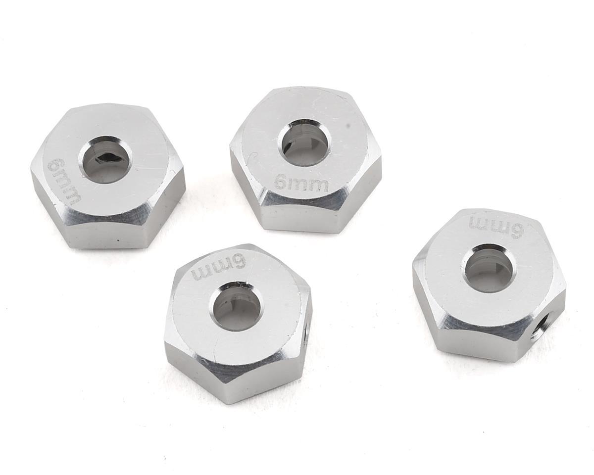 Samix SCX10 II 6mm Aluminum Hex Adapter (Silver) (4)