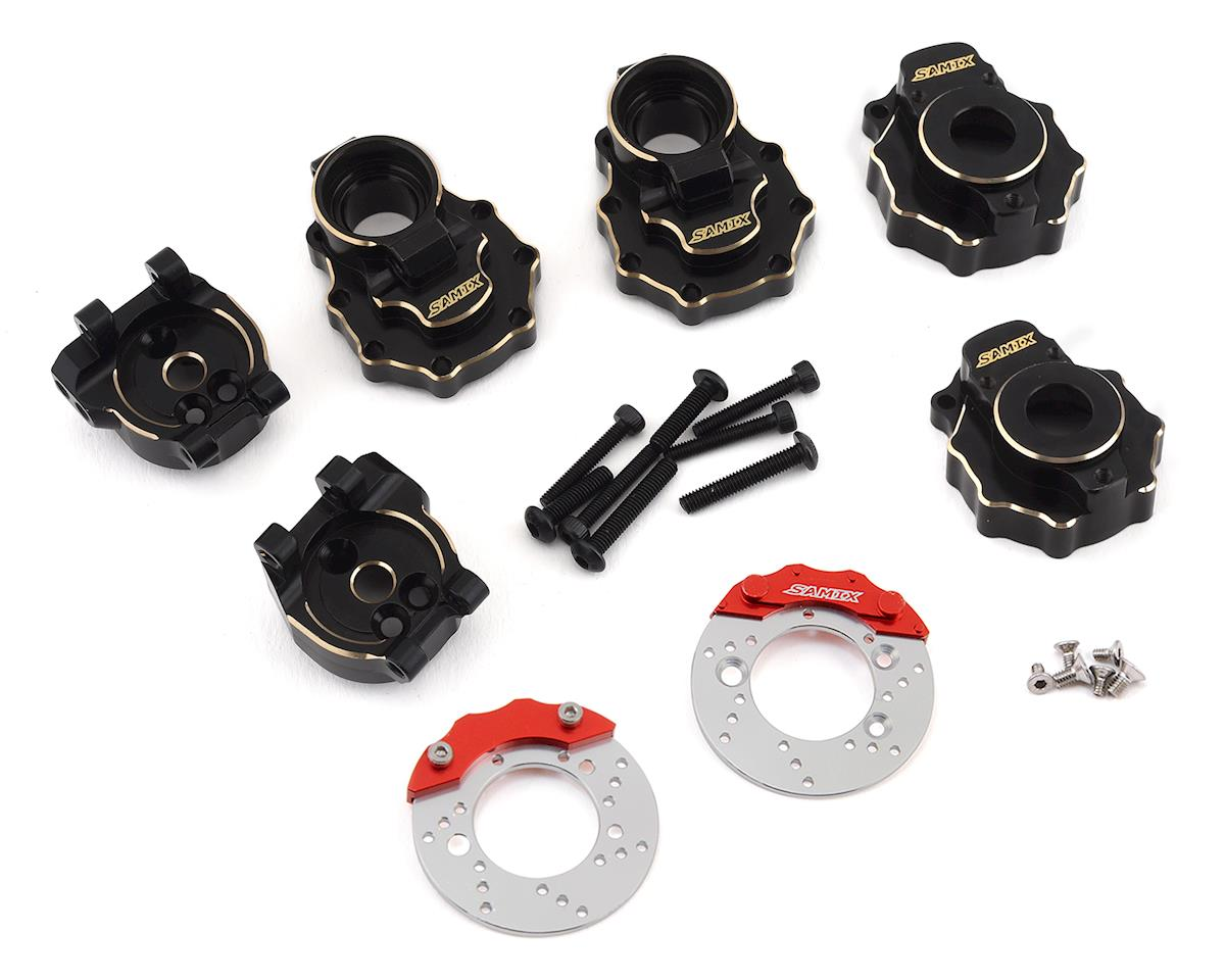 Samix TRX-4 Brass Rear Portal Drive Housing, Knuckle Cover & Hub Carrier Set