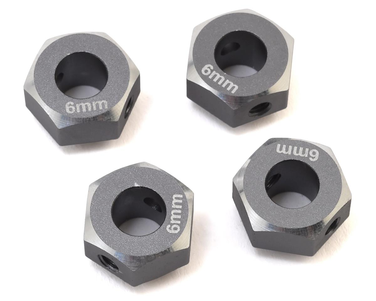 Samix TRX-4 Aluminum 12mm Hex Adapter (Grey) (4) (+6mm Offset)