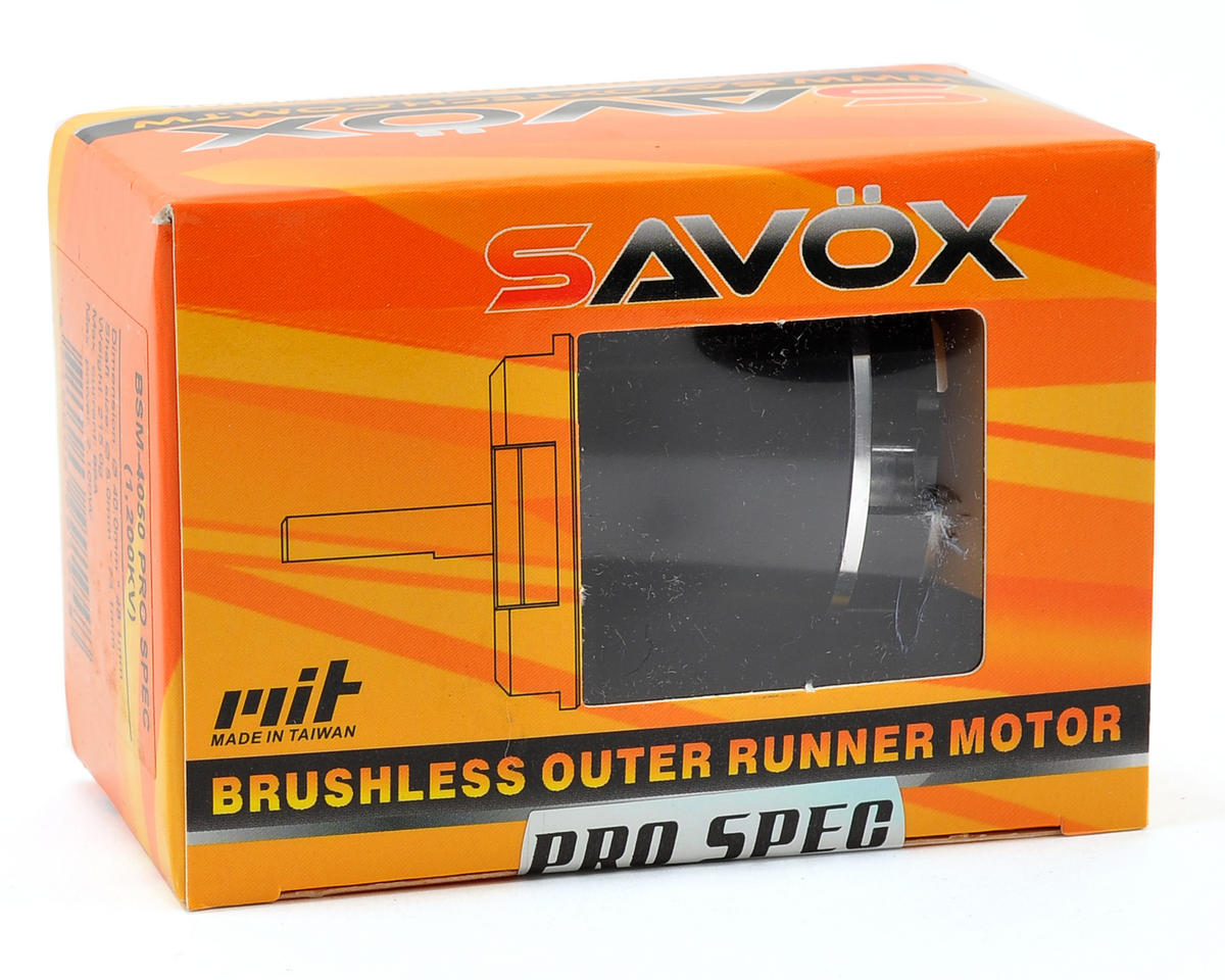 Savox 500 Class BSM4050 Pro Spec Brushless Outrunner Motor (1300kV)