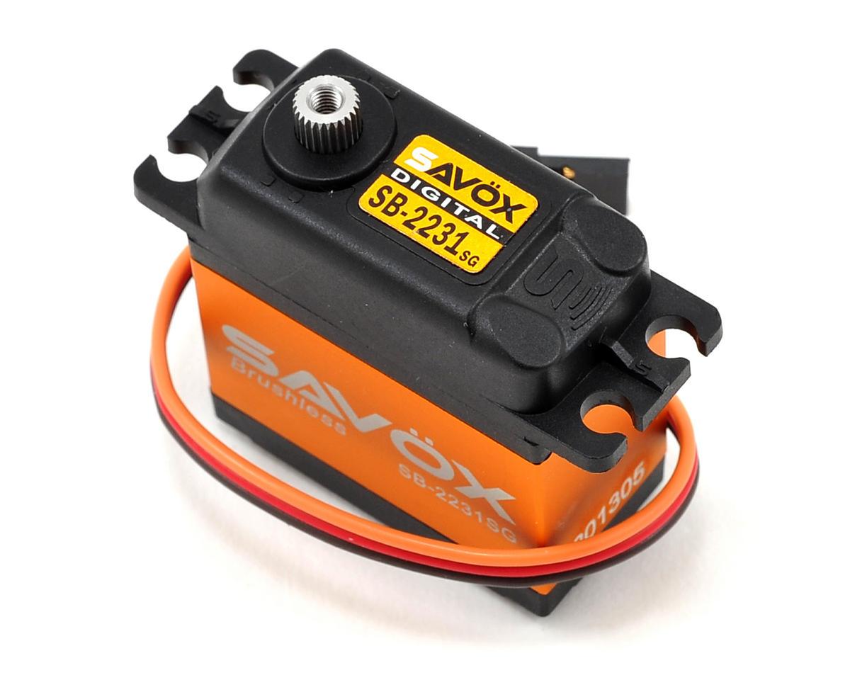 """Savox SB-2231SG """"Ultra Fast"""" Tall Brushless Steel Gear Digital Servo (High Voltage)"""