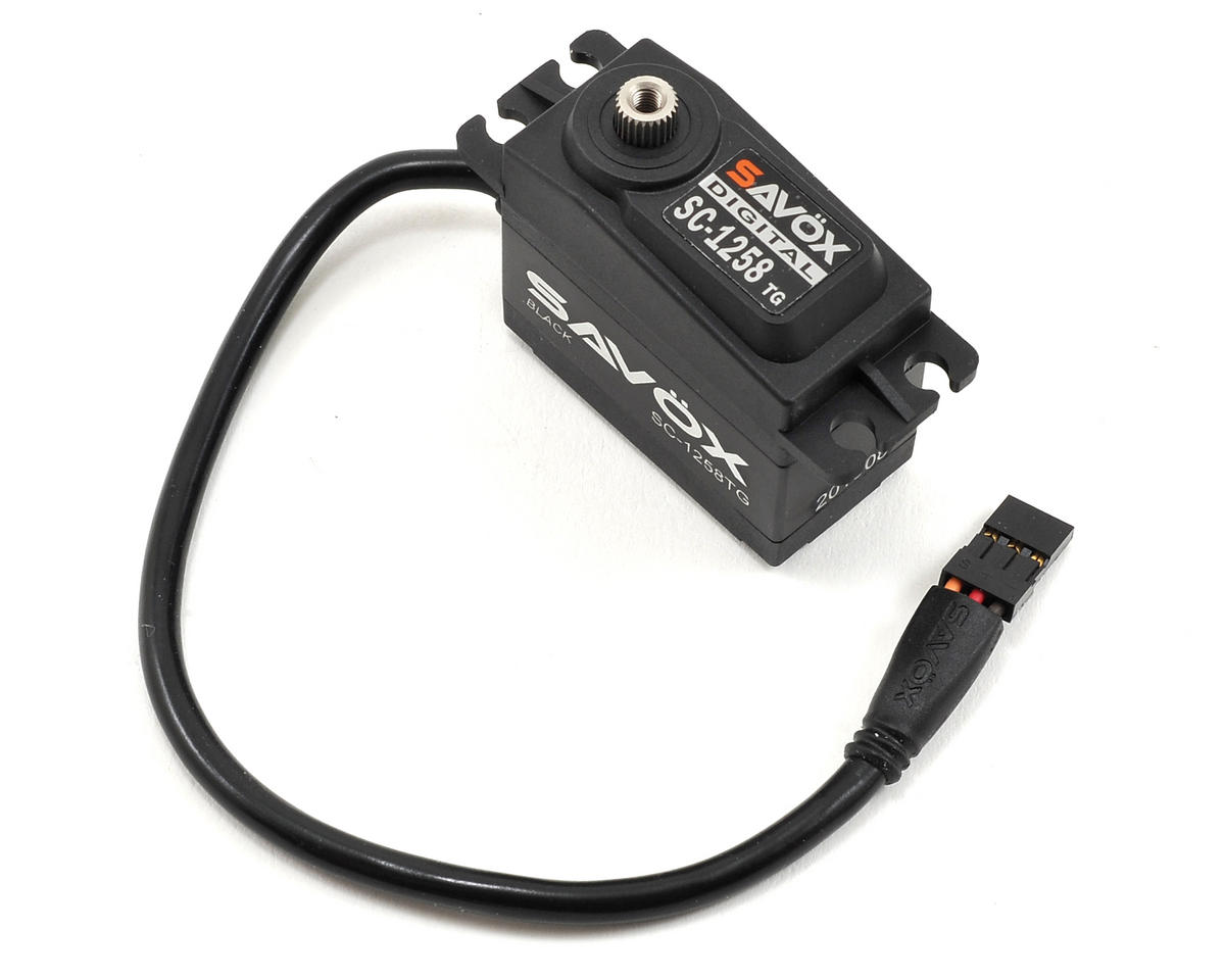 "Savox SC-1258TG Black Edition Standard Digital ""High Speed"" Titanium Gear Servo"
