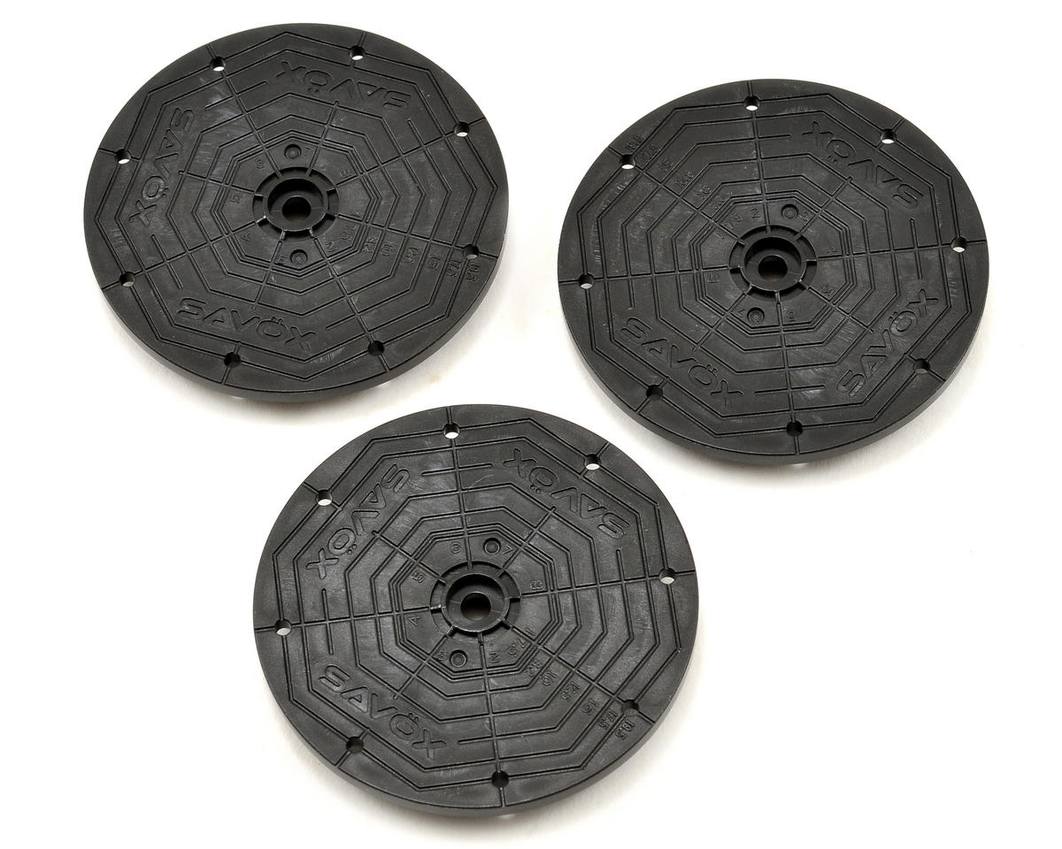 SH30 Large Round 600/700 Heli Servo Horn Set (3) by Savox