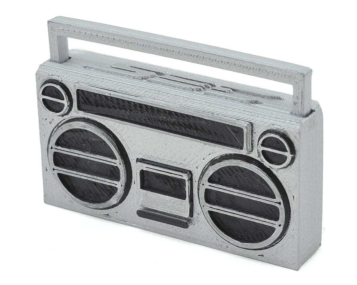 Scale By Chris 80's Style Boom Box (Silver)