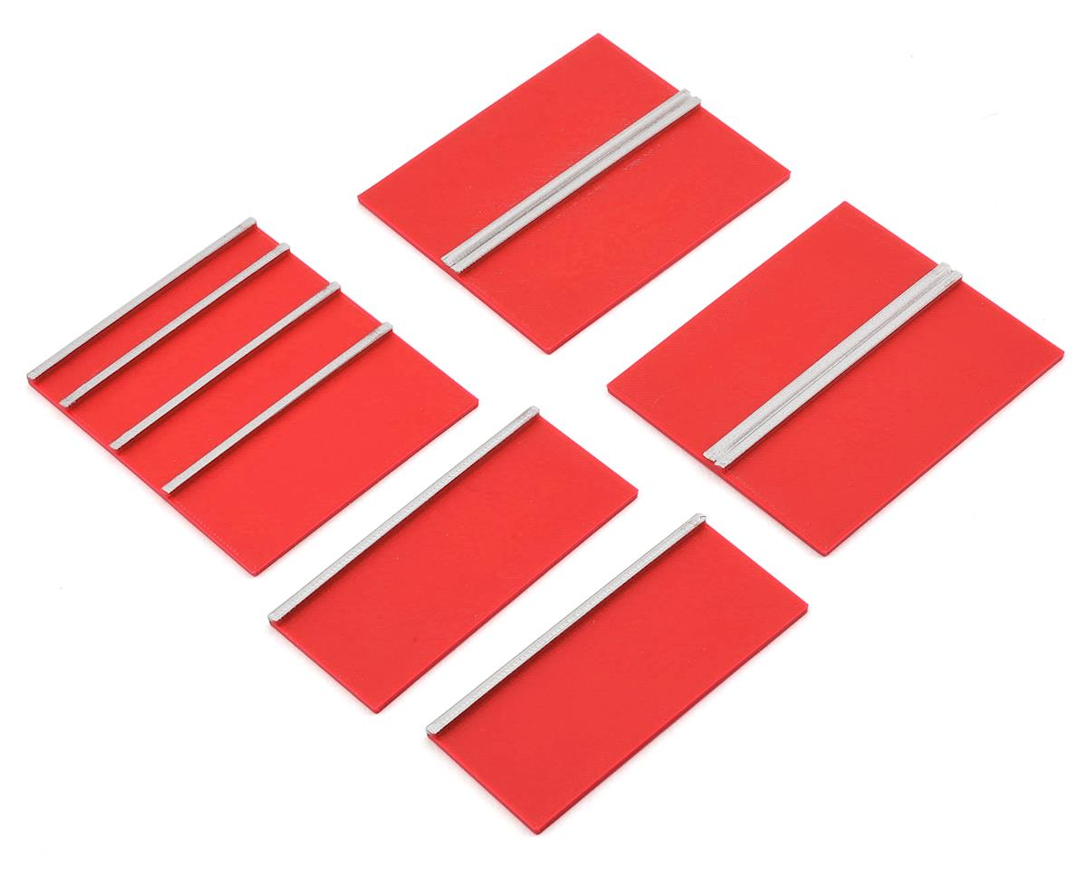 Scale Shop Series Lower Cabinet Door Face Plates (Red) (5)