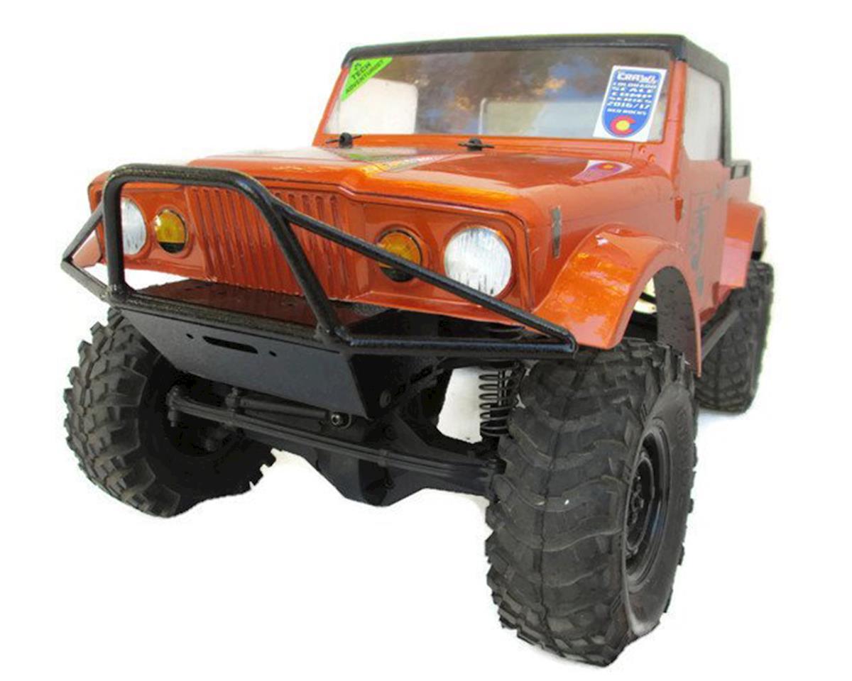 ScalerFab SCX10/SCX10 II Prerunner Raised Front Bumper w/Shackle & Fairlead