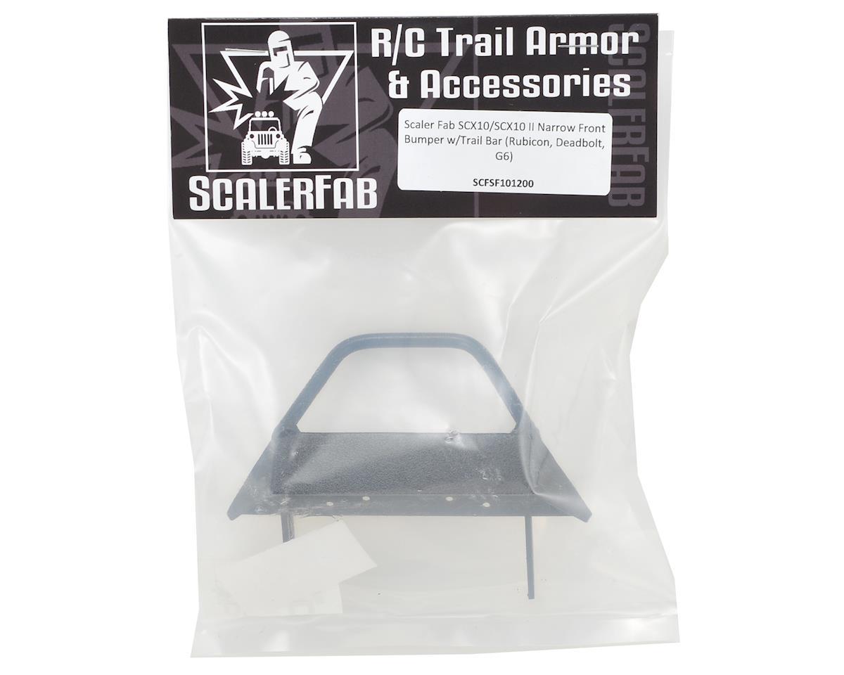 ScalerFab SCX10/SCX10 II Narrow Front Bumper w/Trail Bar