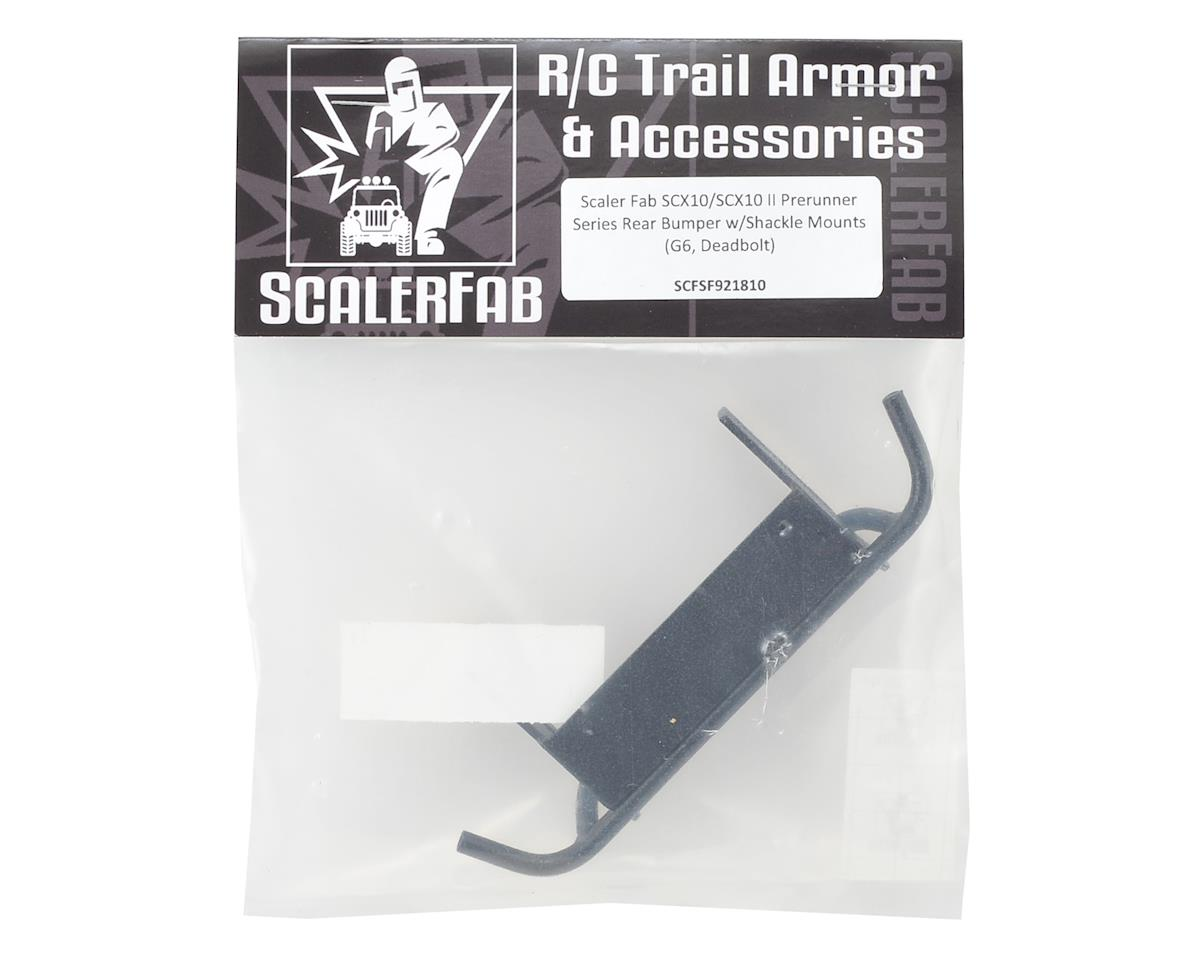 ScalerFab SCX10/SCX10 II Prerunner Series Rear Bumper w/Shackle Mounts
