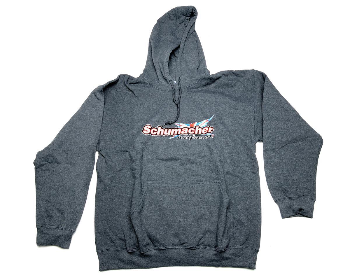 Schumacher Dark Gray Hooded Sweat Shirt (Small)