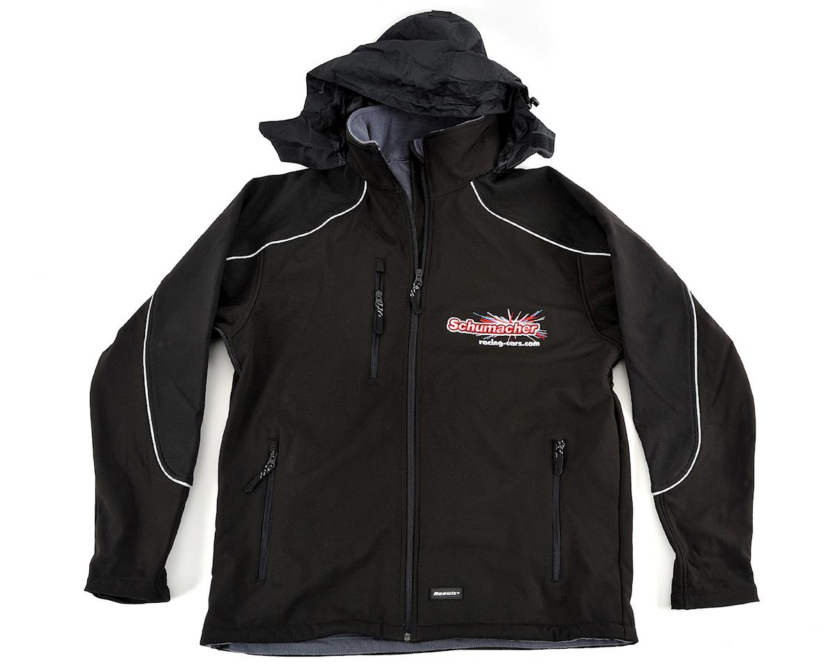 Schumacher Black 3 Layer Softshell Jacket