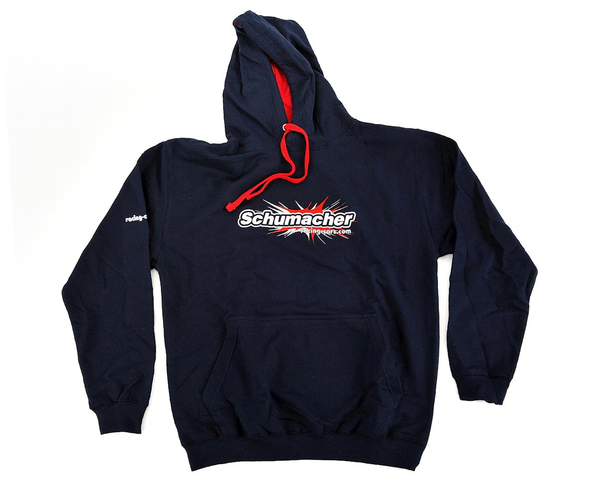 Hooded Sweatshirt (Navy Blue) (XL) by Schumacher