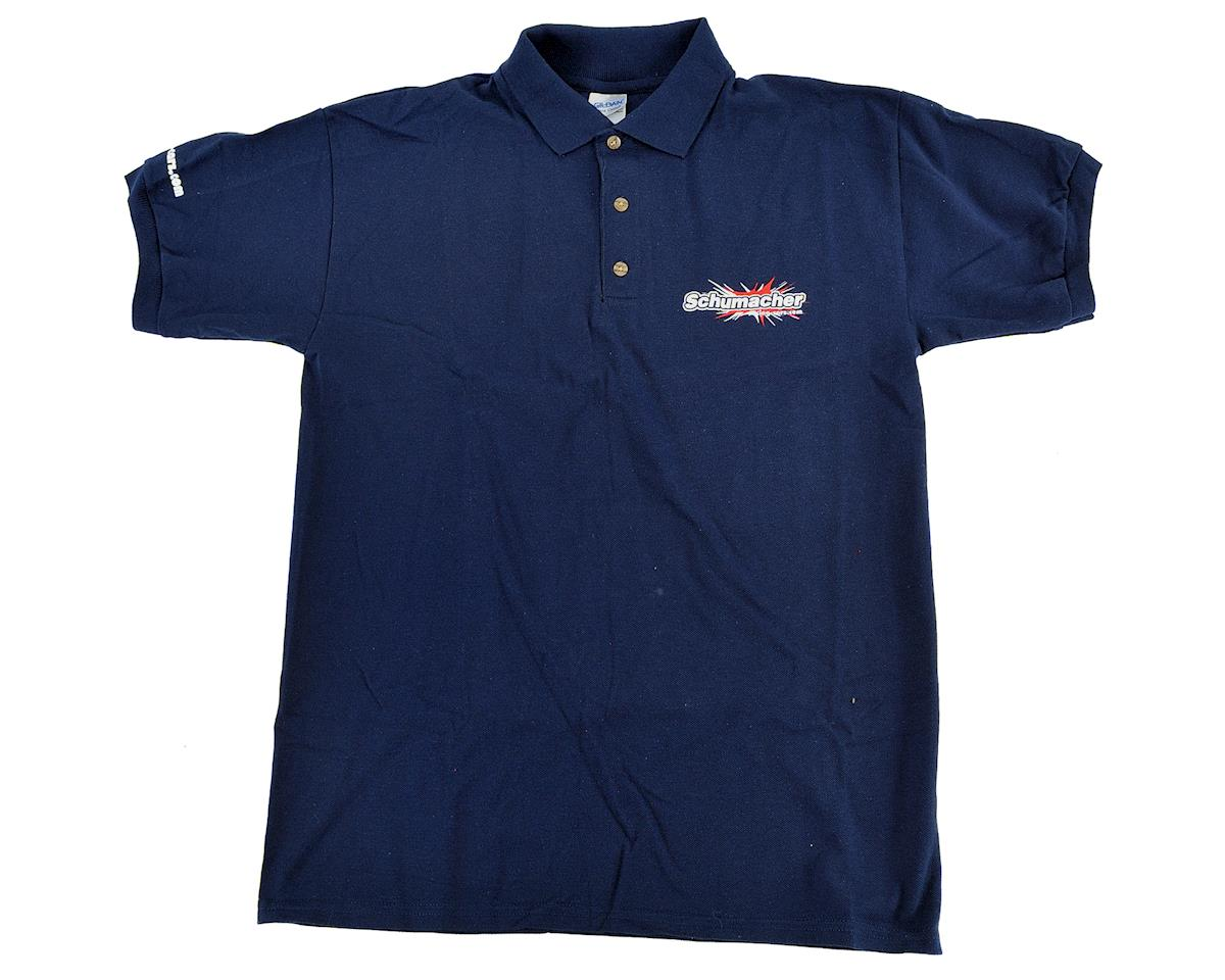 Polo T-Shirt (Navy Blue) (XL) by Schumacher
