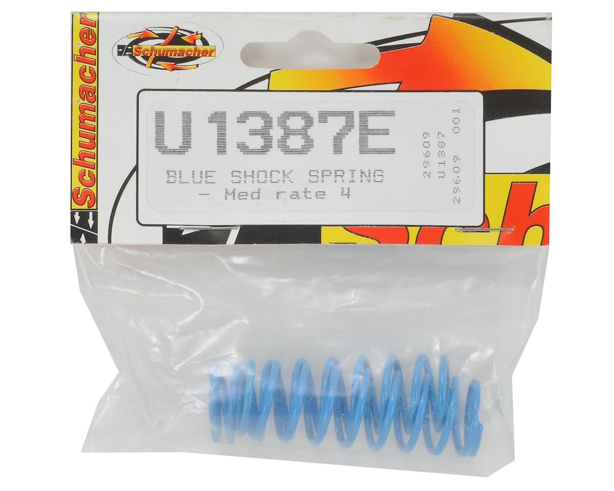 Schumacher Medium Length Shock Springs (Blue - 4) (2)