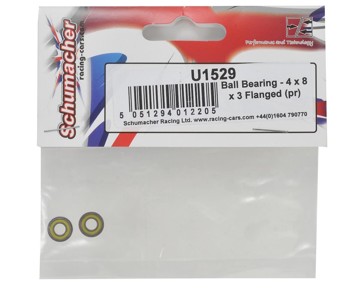 Schumacher 4x8x3mm Flanged Ball Bearing Set (2)