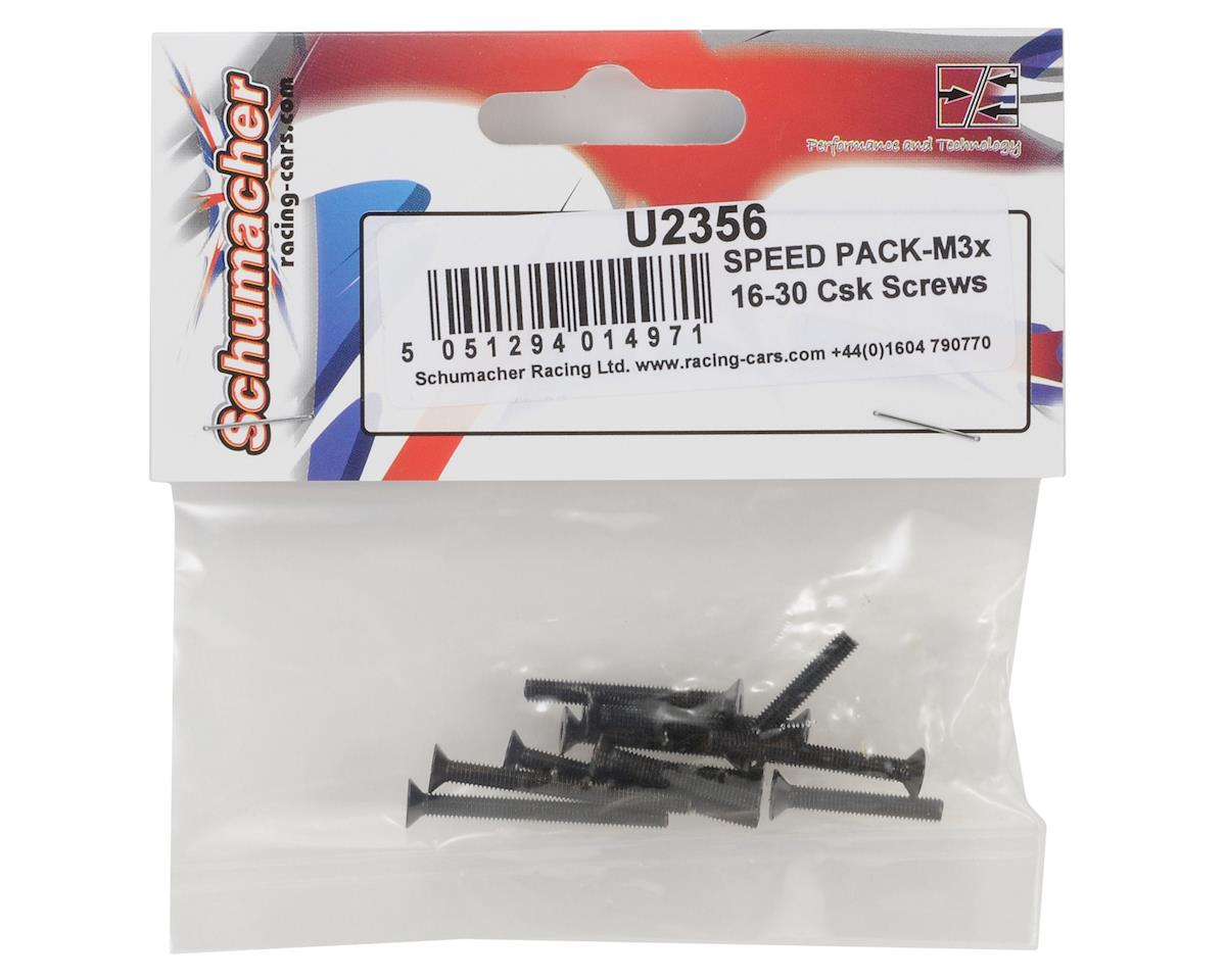 "Schumacher 3mm Flat Head Screw ""Speed Pack"" (10)"