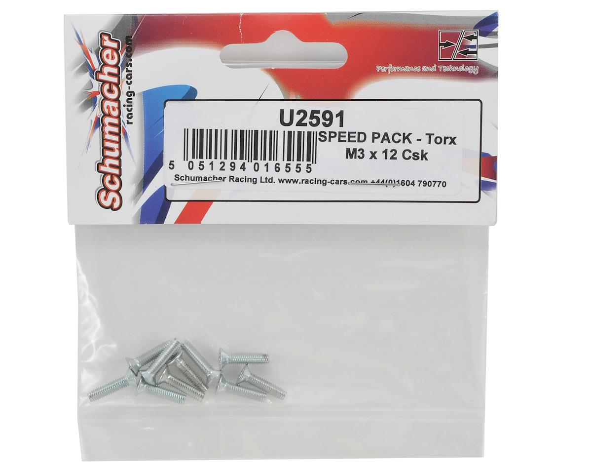 Schumacher 3x12mm Speed Pack Flathead Torx Screw (10)