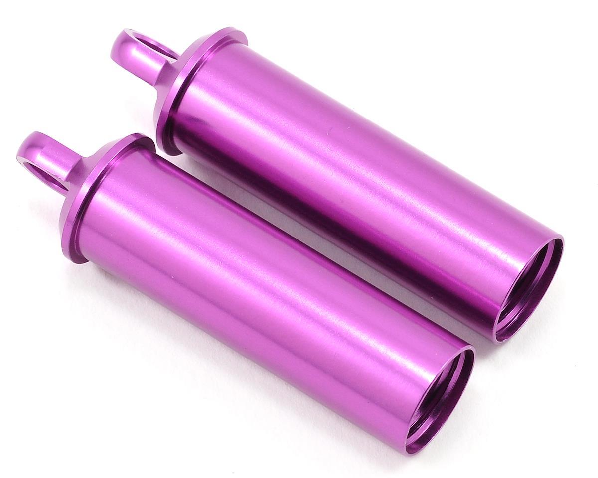 Schumacher Long Alloy Shock Body Set (Purple) (2)