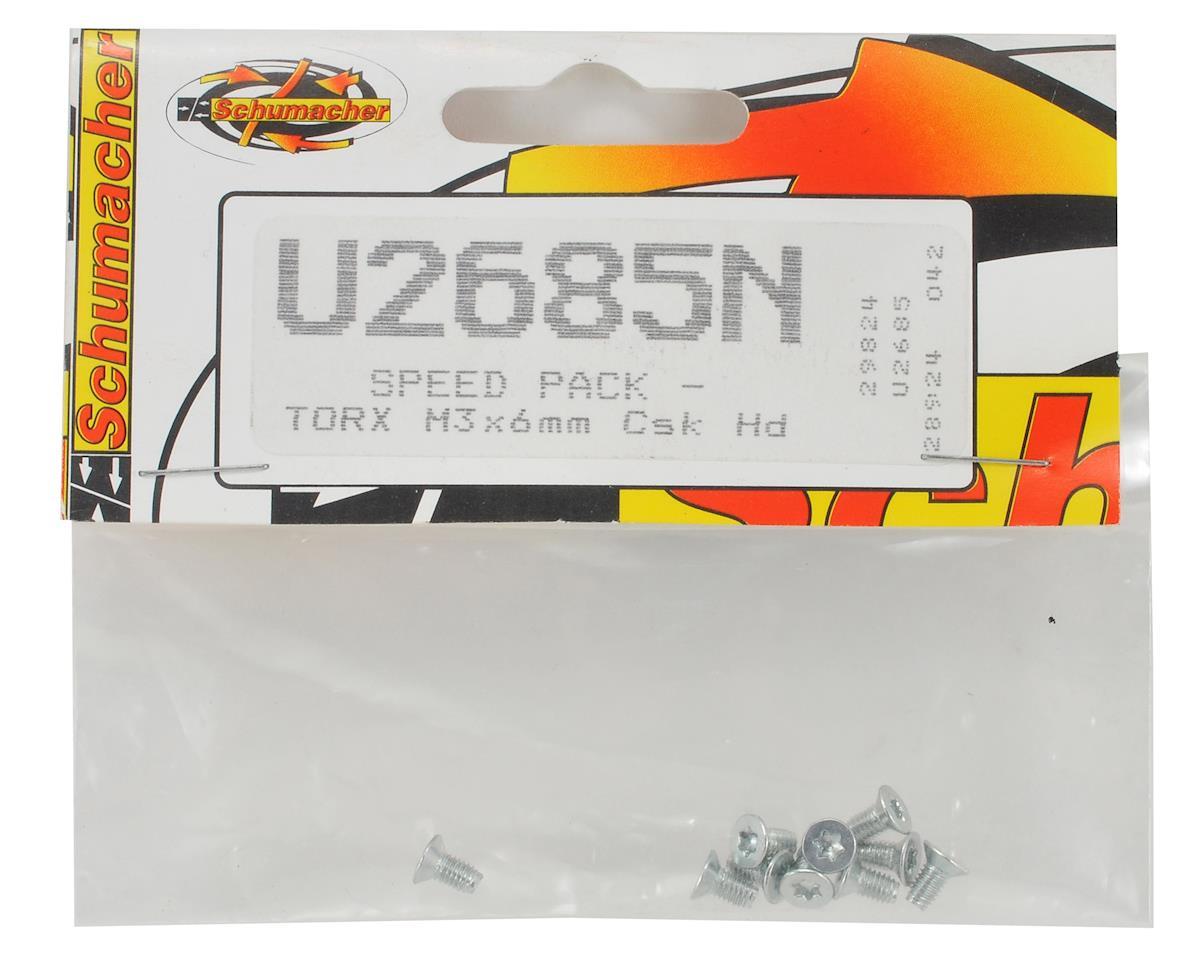 Schumacher M3x6mm Speed Pack Flathead Torx Screw (10)