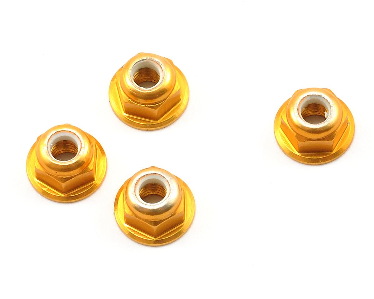 4mm Aluminum Locknut (Gold) (4) by Schumacher
