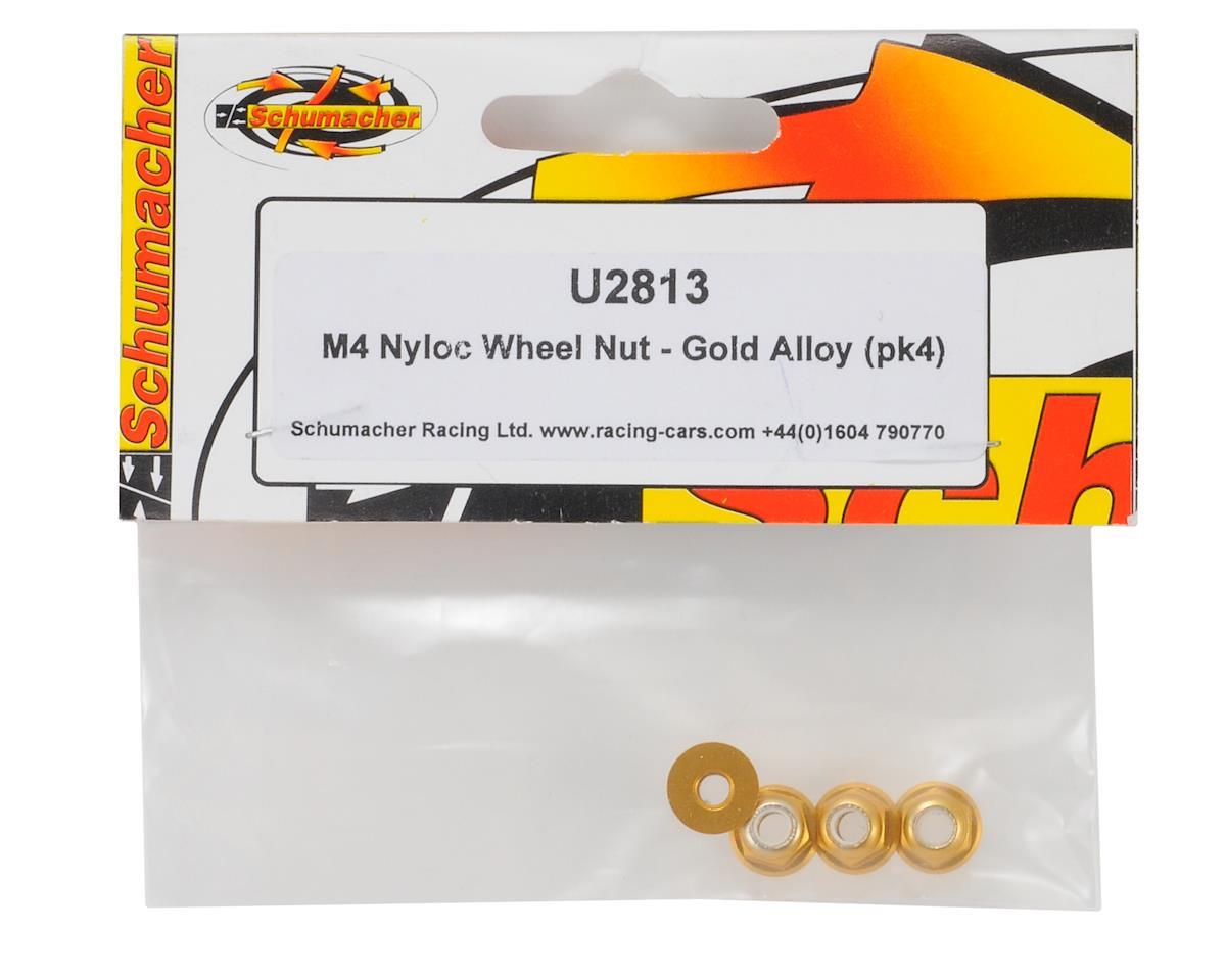 Schumacher 4mm Aluminum Locknut (Gold) (4)