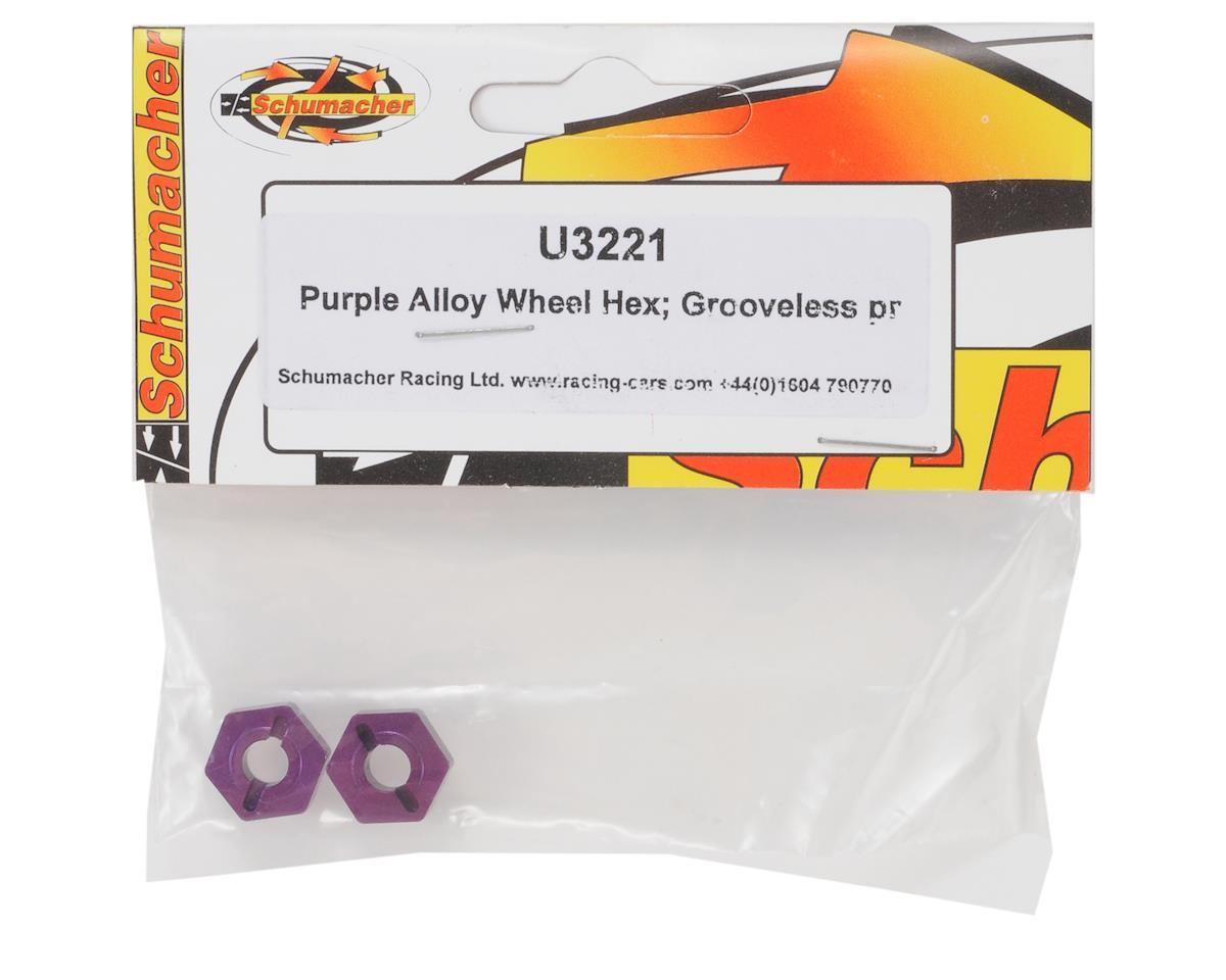 Schumacher Alloy Grooveless Narrow Wheel Hexes (2)