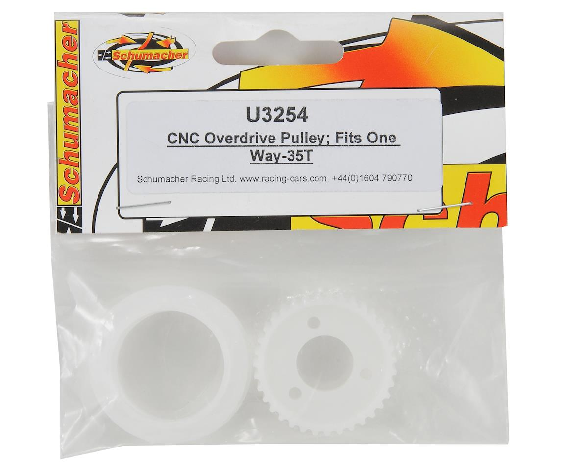 Schumacher CNC 35T Overdrive Pulley (One Way)