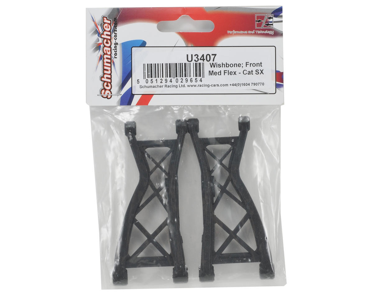 Schumacher Medium Flex Front Wishbone Set (2)
