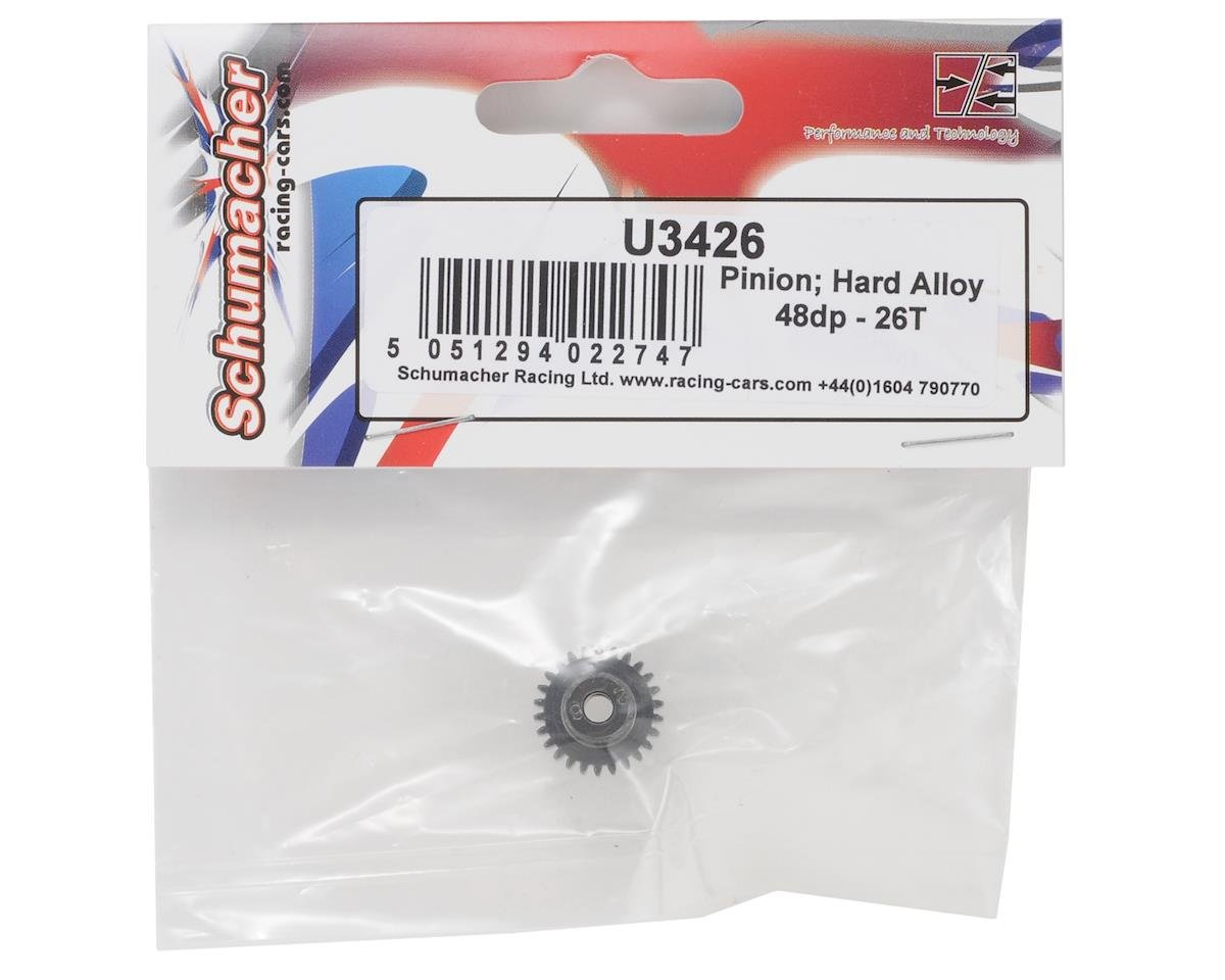 Schumacher 48P Hard Anodized Aluminum Pinion Gear (3.17mm Bore) (26T)