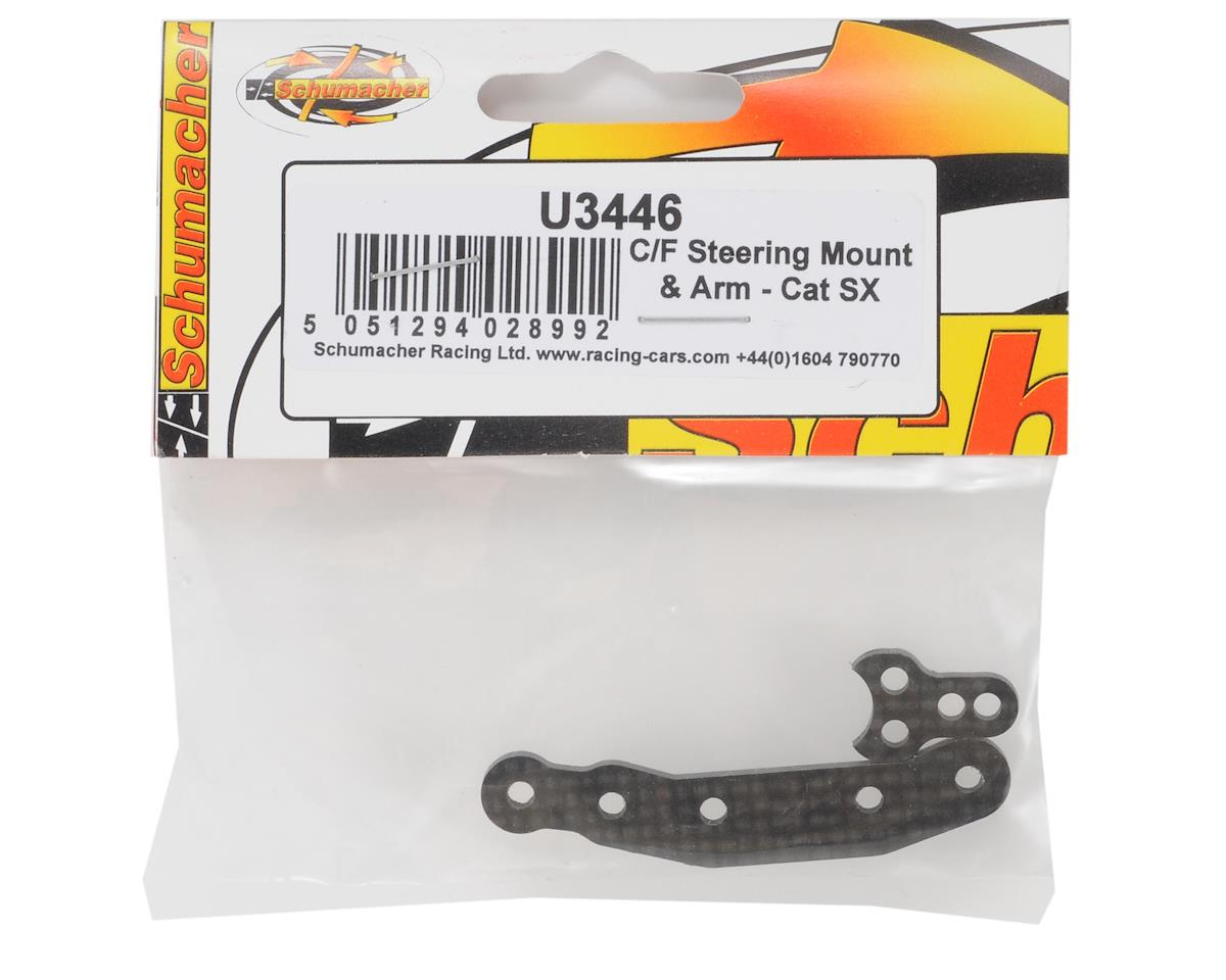 Schumacher Carbon Fiber Steering Mount & Arm Set